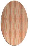rug #507533 | oval orange stripes rug