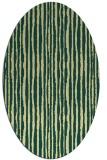rug #507541 | oval yellow rug