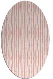 rug #507557 | oval white stripes rug