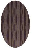 rug #507569   oval mid-brown stripes rug