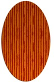 rug #507581 | oval orange stripes rug