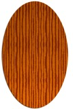 rug #507593 | oval red-orange rug