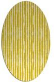 rug #507613 | oval white stripes rug