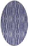 rug #507617 | oval white stripes rug