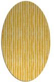 rug #507625 | oval yellow stripes rug