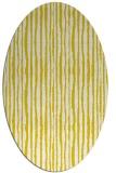 rug #507637 | oval white stripes rug