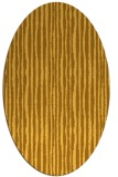 rug #507641 | oval yellow rug