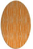 rug #507653 | oval orange stripes rug