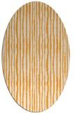 rug #507685 | oval white stripes rug