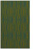 rug #507749    blue-green stripes rug