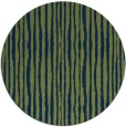 rug #508077 | round blue stripes rug