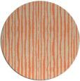 rug #508237   round orange stripes rug