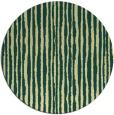 rug #508245 | round yellow stripes rug