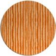 rug #508301 | round red-orange stripes rug