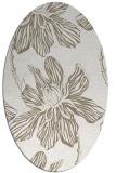 rug #509097 | oval beige graphic rug