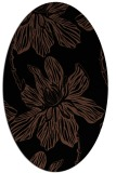 rug #509113 | oval brown rug