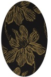 rug #509117 | oval brown graphic rug