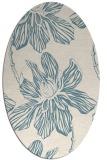rug #509121   oval white rug