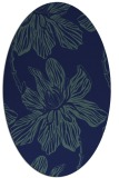 rug #509129   oval blue graphic rug