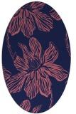 rug #509189 | oval blue-violet graphic rug