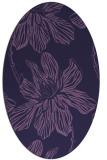 rug #509193 | oval blue-violet graphic rug