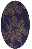 rug #509205 | oval beige natural rug