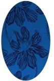 rug #509265 | oval blue rug