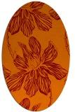 rug #509285 | oval orange graphic rug
