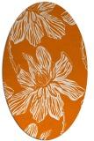 rug #509289   oval orange graphic rug