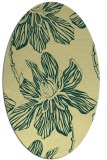 rug #509301 | oval yellow natural rug