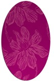 rug #509305 | oval pink rug