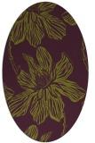 rug #509325 | oval purple rug