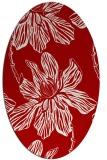 rug #509337   oval red natural rug