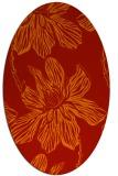 rug #509341   oval red natural rug