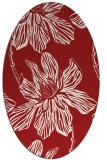 rug #509345 | oval red popular rug