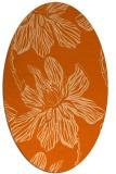 rug #509357 | oval red-orange graphic rug