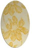 rug #509385 | oval yellow rug