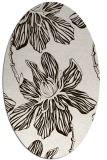 rug #509393   oval brown graphic rug
