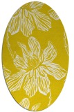 rug #509397 | oval yellow natural rug