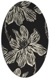 rug #509405 | oval black graphic rug