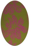 rug #509425 | oval light-green graphic rug