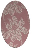 rug #509437 | oval pink natural rug