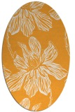 rug #509445 | oval light-orange natural rug