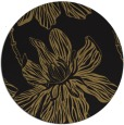 rug #509821 | round mid-brown graphic rug