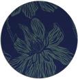 rug #509833 | round blue graphic rug