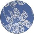 rug #509841 | round blue graphic rug
