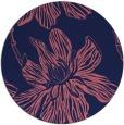 rug #509893 | round pink graphic rug
