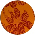 rug #509989 | round orange graphic rug