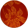 rug #510045 | round red natural rug