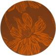 rug #510065 | round red-orange graphic rug